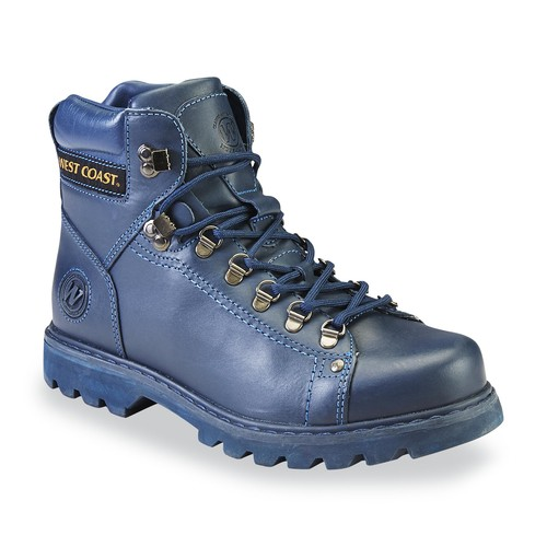 West Coast Men's Igor Leather Hiking Boot - Blue [Width : Medium]