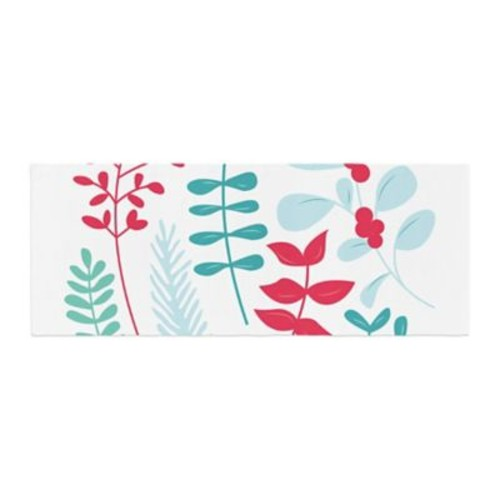 East Urban Home Deck the Hollies Bed Runner; Red/Teal