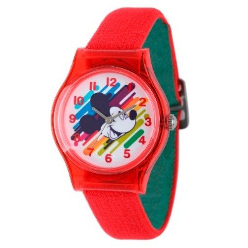 Boys' Disney Mickey Mouse Plastic Watch - Red