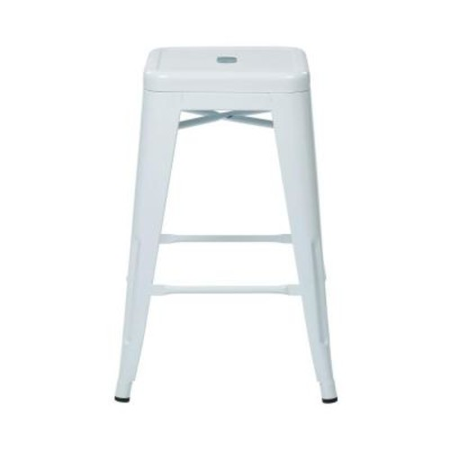 OSPdesigns 24 in. White Bar Stool (Set of 4)