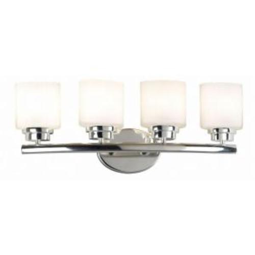 Kenroy Home Bow 4-Light Polished Nickel Vanity Light