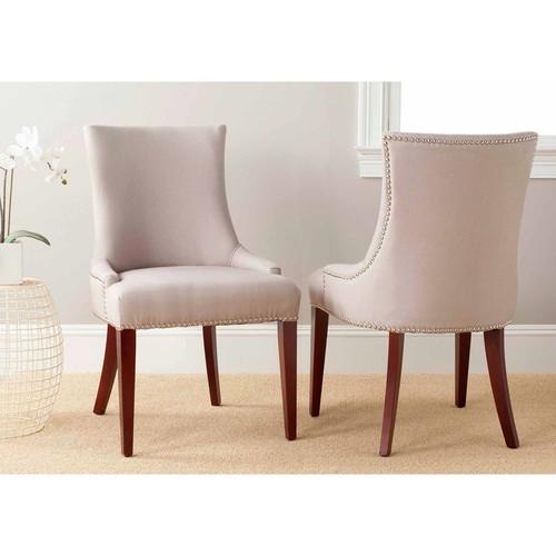 Safavieh MCR4502A Becca Linen Dining Chair - Cream