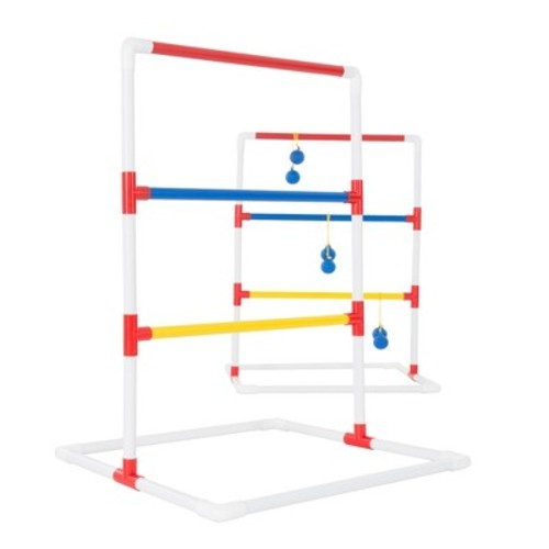 Hey! Play! Ladder Toss Outdoor Game Set Red/Blue - 3pc