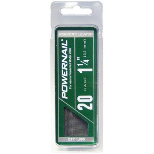 POWERNAIL 1-1/4 in. 20-Gauge Hardwood Flooring Cleat (1000-Pack)