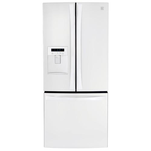 Kenmore Elite 71322 21.8cu. ft. French Door Bottom-freezer Refrigerator w/ Water Dispenser - White