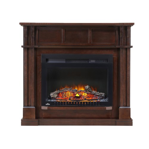 NAPOLEON Bailey 24 in. Corner Mantel Package Electric Fireplace in Espresso