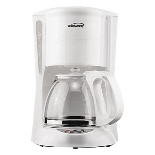 Brentwood TS-218W 12 Cup Digital Coffee Maker in White