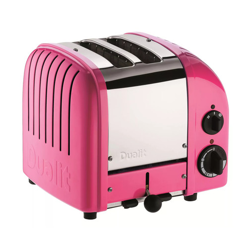 Dualit 2 Slice Classic Toaster, Chilly Pink [Chilly Pink, 2-Slice]