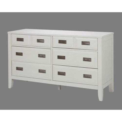 Home Styles Newport 6-Drawer White Dresser