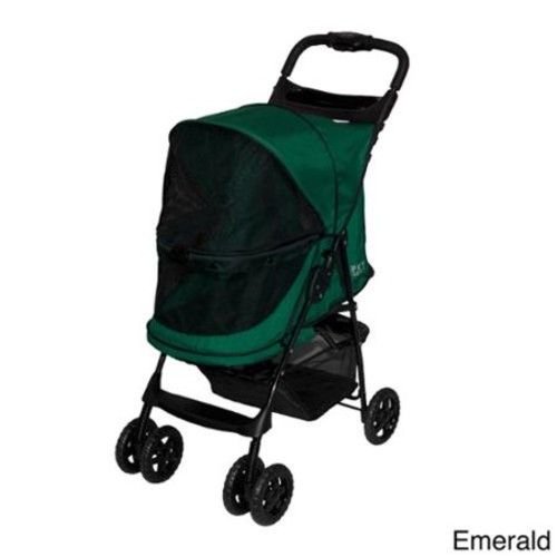 Pet Gear Happy trails No-Zip Pet Stroller [Emerald]