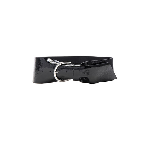 ISABEL MARANT Yanis Patent Leather Belt In Black