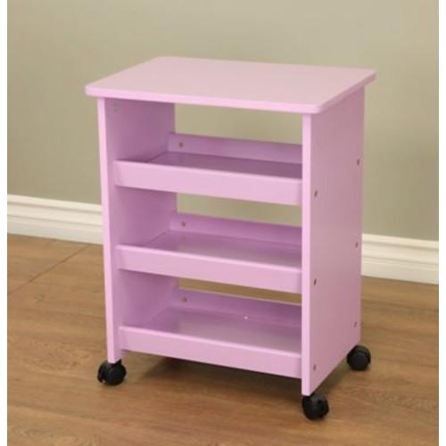 Mega Home All purpose Rolling End Table; Purple