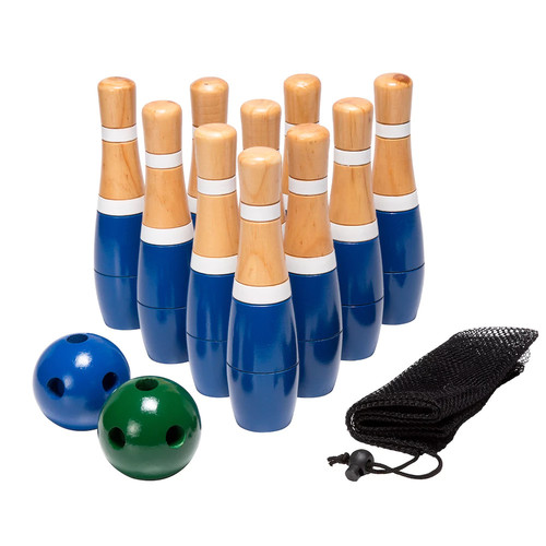 Trademark 8 in. Wooden Lawn Bowling Set