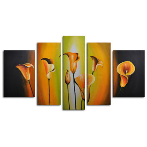 Lilies By Evening Light 5 Piece Painting on Canvas Set