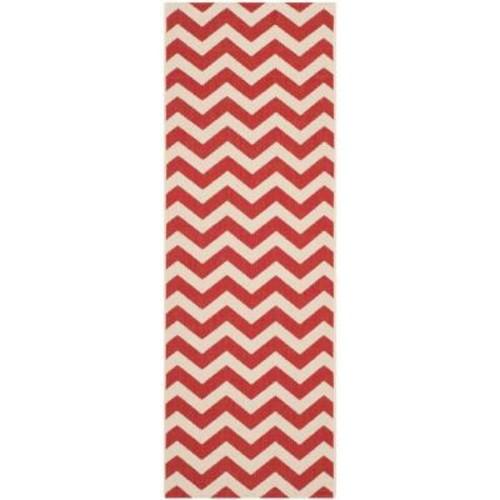 Safavieh Courtyard Red 2 ft. 3 in. x 6 ft. 7 in. Indoor/Outdoor Runner