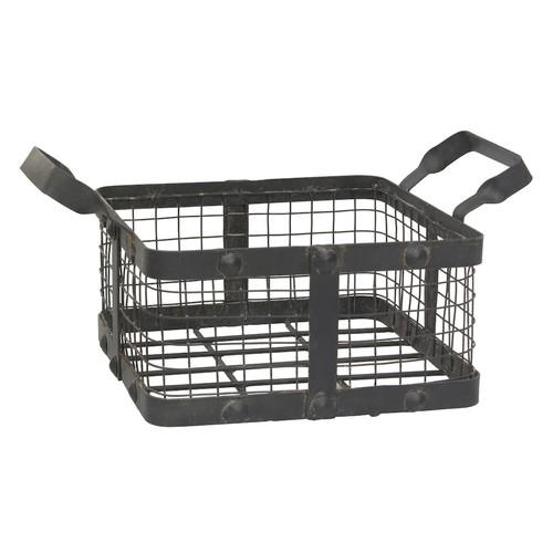 Stonebriar Collection Rustic Metal Basket