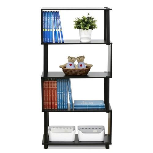Furinno Flexi Espresso Modern Design 4-Shelf Open Bookcase