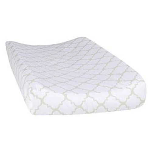 Trend Lab Sea Foam Quatrefoil Changing Pad Cover, Sage