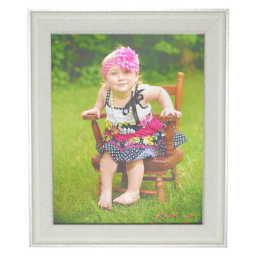 Rayne Mirrors Picture Frames & Photo Albums Vintage White Frame [option : Vintage White/Silver, Picture Size: 10 x 13]