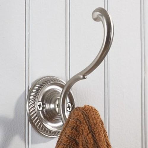 Richelieu Classic Brass Wall Hook; Brushed Nickel