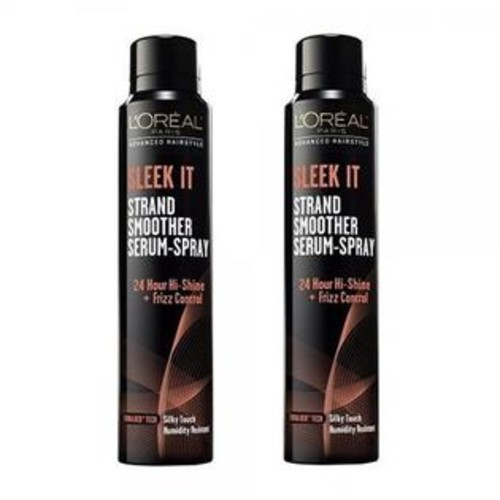 L'Oreal (2 Pack) L'Oreal Paris Advanced Hairstyle Sleek It Strand Smoother Serum-Spray, 5.3 Fl Oz