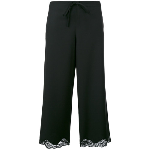 ALEXANDER WANG Lace Trim Cropped Trousers