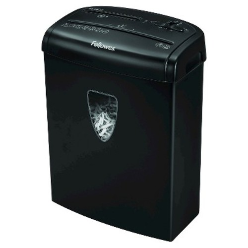 Fellowes Powershred H-8Cd Cross Cut Paper Shredder, 8 Sheets - Black