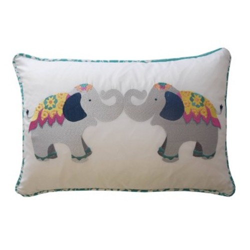 Bollywood Elephant Throw Pillow (12