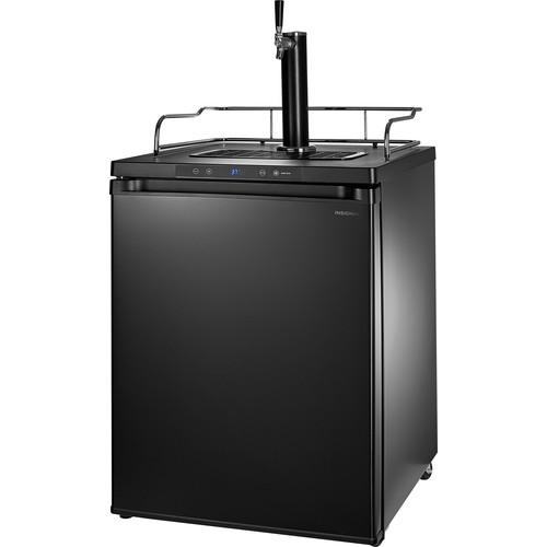 Insignia - 5.6 Cu. Ft. Single Tap Beverage Cooler & Kegerator - Matte Black