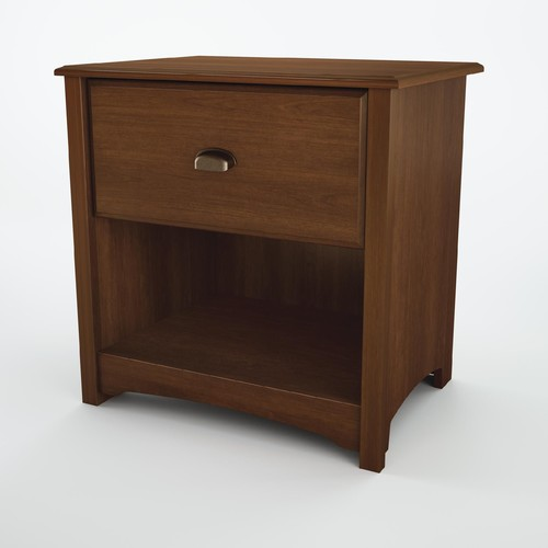 South Shore Willow collection Nightstand Sumptuous Cherry