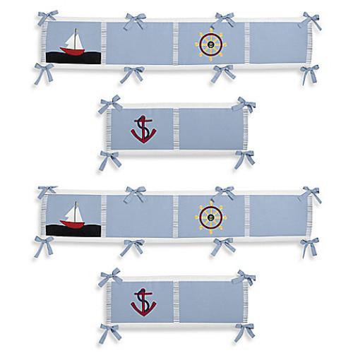 Sweet Jojo Designs Come Sail Away 4-Piece Crib Bumper