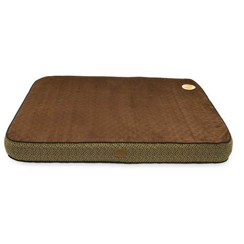 K&H Pet Products Orthopedic Superior Pet Bed [Mocha Paw Bone Print, Large(40