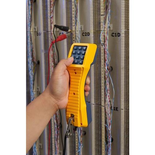 Fluke Networks TS19 Telephone Test Set with Banana Jacks to Alligator Clips (19800003)