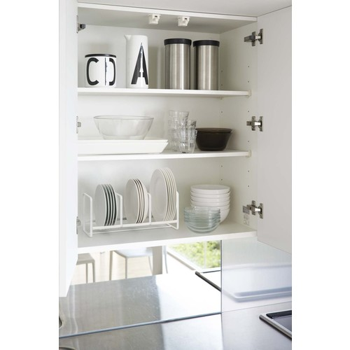 Tower Dish Storage Rack Wide Small in Various Colors design by Yamazaki - White