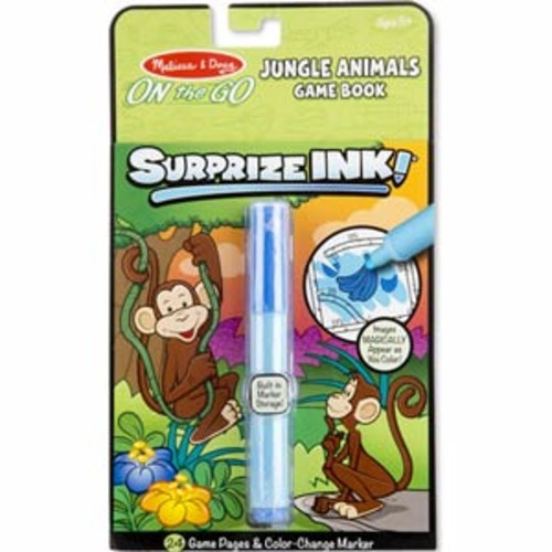Melissa & Doug On the Go Surprize Ink! Game Book - Jungle Animals
