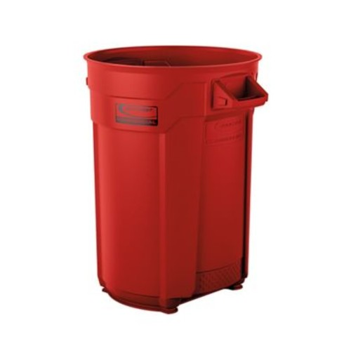 Suncast Commercial Utility Trash Can 44 Gallon, Red (BMTCU44R)