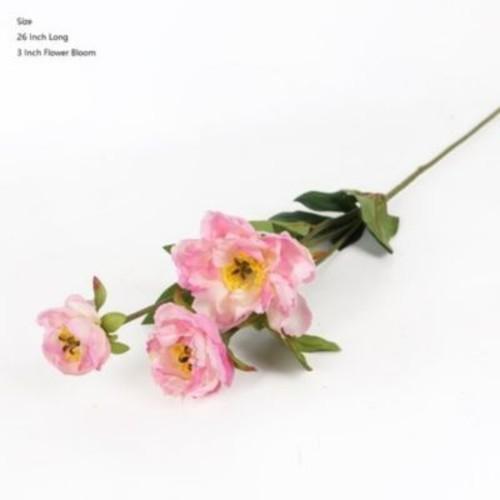 Winston Porter Silk 3 Princess Bloom Peony Stem; Light Pink