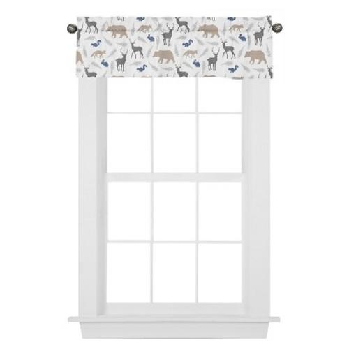 Sweet Jojo Designs Window Valance - Woodland Animals