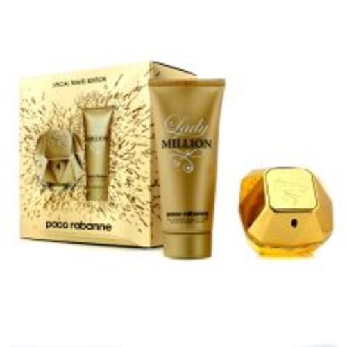Paco Rabanne Lady Million Special Travel Edition Coffret: Eau De Parfum Spray 80ml/2.7oz + Sensual Body Lotion 100ml/3.4oz