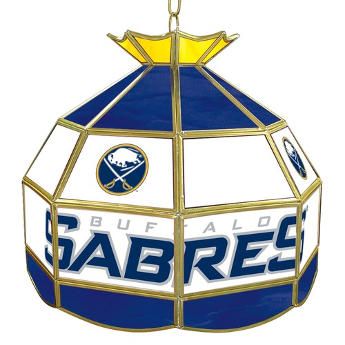 NHL Buffalo Sabres 16 inch Stained Glass Tiffany Style Lamp