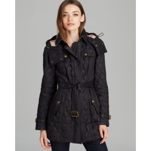 BURBERRY Finsbridge Long Quilted Coat