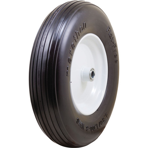 Marathon Tires Flat-Free Dense Wheelbarrow Tire  3/4in. Bore, 4.80/4.008in.