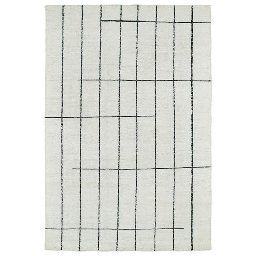 Kaleen Solitaire Ivory 4 ft. x 6 ft. Area Rug