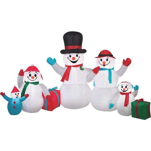 Gemmy Airblown Inflatable Snowman Family - 11176