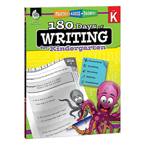 Shell Education 180 Days Of Writing Workbook, Grade 6