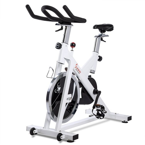 Indoor Cycling Bike by Sunny Health & Fitness [White]