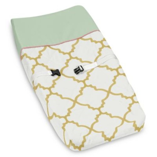 Sweet Jojo Designs Ava Changing Pad Cover in Gold/Green