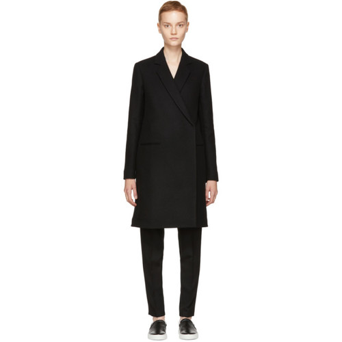 VICTORIA BECKHAM Black Wool Tailored Coat