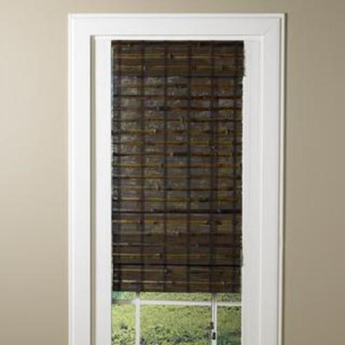 Lewis Hyman Santa Collection Cruz Rosewood Finished Bamboo Roman Shade
