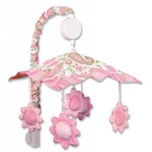 Baby Girl Paisley Park Flower Musical Mobile